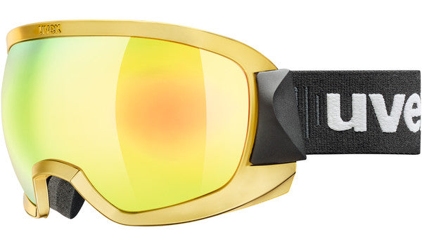UVEX Sport - Contest FM Chrome Gold Snow Goggles / Gold Mirror Lenses