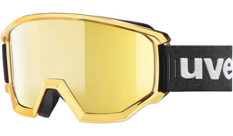 UVEX Sport - Athletic FM Chrome Matte Gold Chrome Snow Goggles / Gold Mirror Lenses