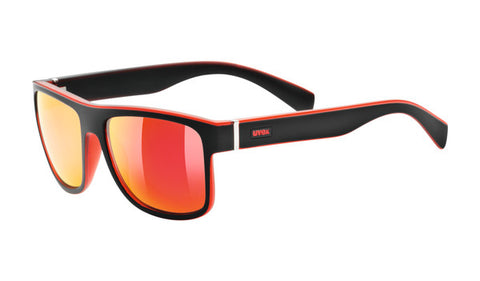 UVEX Sport - LGL 21 Matte Black Red Sunglasses / Red Mirror Lenses