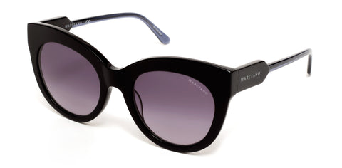 Marciano - GM0787 Shiny Black Sunglasses / Gradient Smoke Lenses