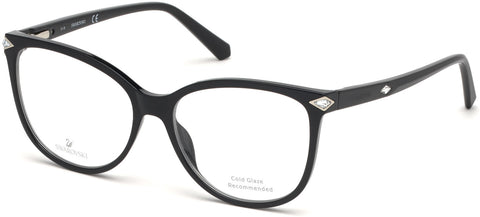 Swarovski - SK5283 Shiny Black Eyeglasses / Demo Lenses