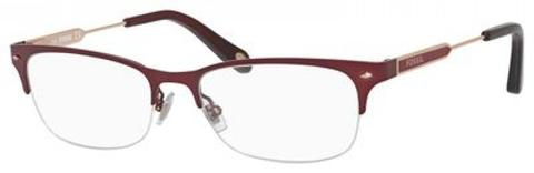Fossil - Fos 6078 Burgundy Eyeglasses / Demo Lenses