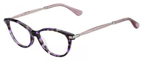 Jimmy Choo - Jc 153 Havana Violet Palladium Eyeglasses / Demo Lenses
