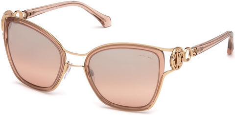 Roberto Cavalli - RC1081 Montaione Shiny Pink Sunglasses / Bordeaux Mirror Lenses