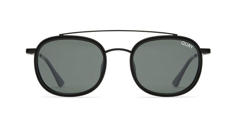 Quay - Got It Covered Black Sunglasses / Green Lenses