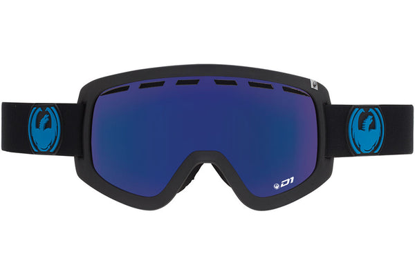 Dragon - D1 Jet / Dark Smoke Blue + Yellow Red Ion Goggles
