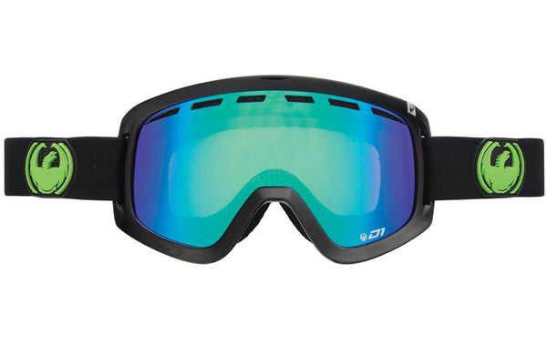 Dragon - D1 Jet / Green Ion + Yellow blue Ion Goggles