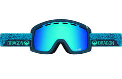Dragon - D1 Stone Blue / Blue Steel + Yellow Red Ion Goggles