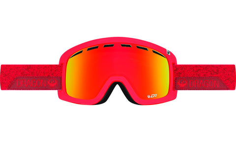 Dragon - D1 Stone Red / Red Ion + Yellow Red Ion Goggles