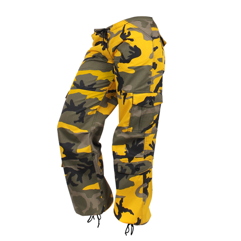 Rothco - Women's Colored Paratrooper Stinger Yellow Camo Fatigue Pants