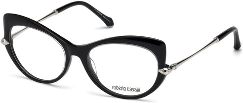 Roberto Cavalli - RC5021 Bisenzio Shiny Black Eyeglasses / Demo Lenses