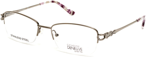 Catherine Deneuve - CD0421 49mm Shiny Light Nickeltin Eyeglasses / Demo Lenses