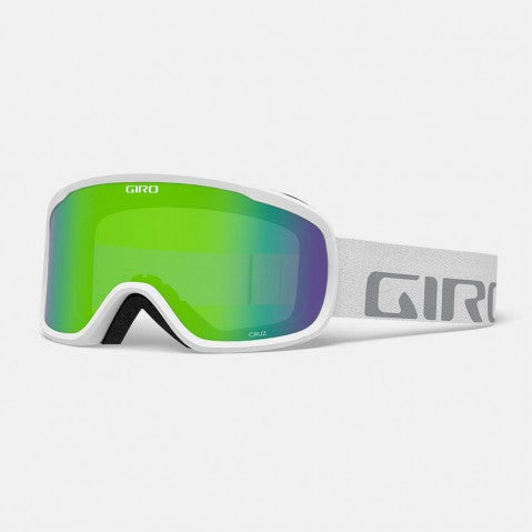 Giro - Cruz White Wordmark Snow Goggles / Loden Green Lenses