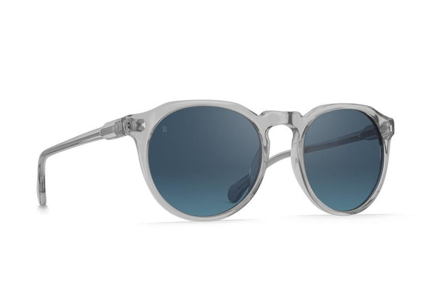 Raen - Remmy 52mm Arctic Crystal Sunglasses / Blue Flash Mirror Lenses