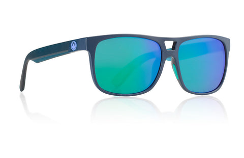 Dragon - Roadblock Matte Deep Navy H2O Sunglasses / Green Ion Performance Polarized Lenses