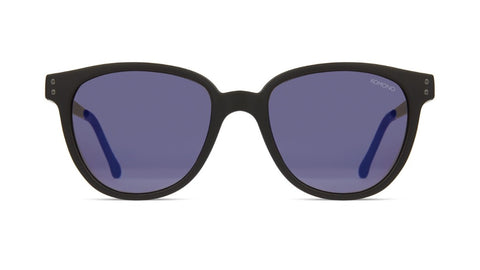 Komono - Renee Black Silver Sunglasses / Violet Lenses