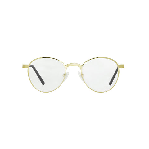 Spektre - Titan Gold Glossy Sunglasses / Clear Lenses
