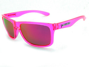 Peppers - Sunset Blvd Crystal Pink Sunglasses / Pink Mirror Lenses
