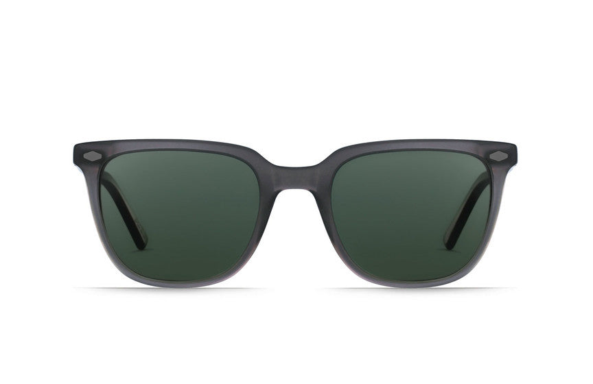 Raen - Arlo Matte Grey Crystal Sunglasses, Polarized Lenses