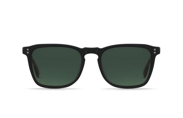 Raen - Wiley Matte Black + Matte Brindle Sunglasses, Polarized Lenses