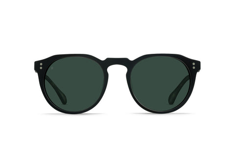Raen - Remmy 49 Matte Black & Matte Brindle Tortoise Sunglasses, Polarized Lenses