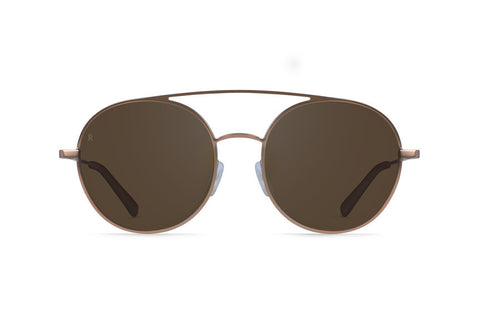 Raen - Scripps Rose Gold + Rose Sunglasses, Silver Tri-Reflection Flash Mirror Lenses