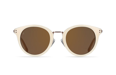 Raen - Potrero Bone Gold Sunglasses, Copper Tri-Reflection Flash Mirror Lenses