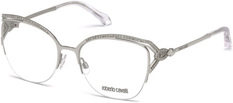 Roberto Cavalli - RC5054 Forte Shiny Palladium Eyeglasses / Demo Lenses