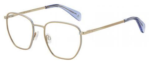Rag & Bone - Rnb 7018 Gold Copper Eyeglasses / Demo Lenses