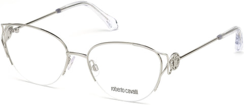 Roberto Cavalli - RC5052 Foiano Shiny Palladium Eyeglasses / Demo Lenses