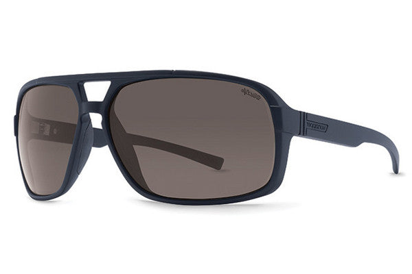 VonZipper - Decco Black Smoke Satin PSV Sunglasses, Wildlife Vintage Grey Polarized Lenses