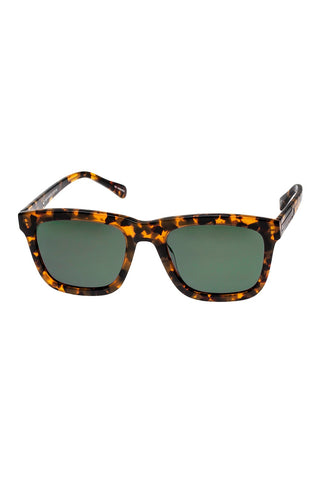Karen Walker - Deep Freeze Crazy Tortoise Sunglasses / Gradient Green Lenses