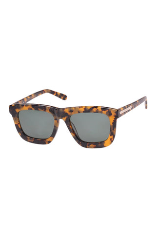 Karen Walker - Deep Worship Crazy Tortoise Sunglasses / Black Lenses