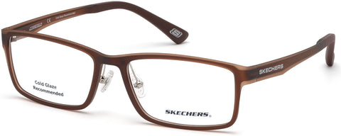 Skechers - SE3225 Matte Dark Brown Eyeglasses / Demo Lenses