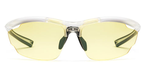 Westward Leaning - Volt 04 Matte Crystal Sunglasses / Yellow Tint Lenses