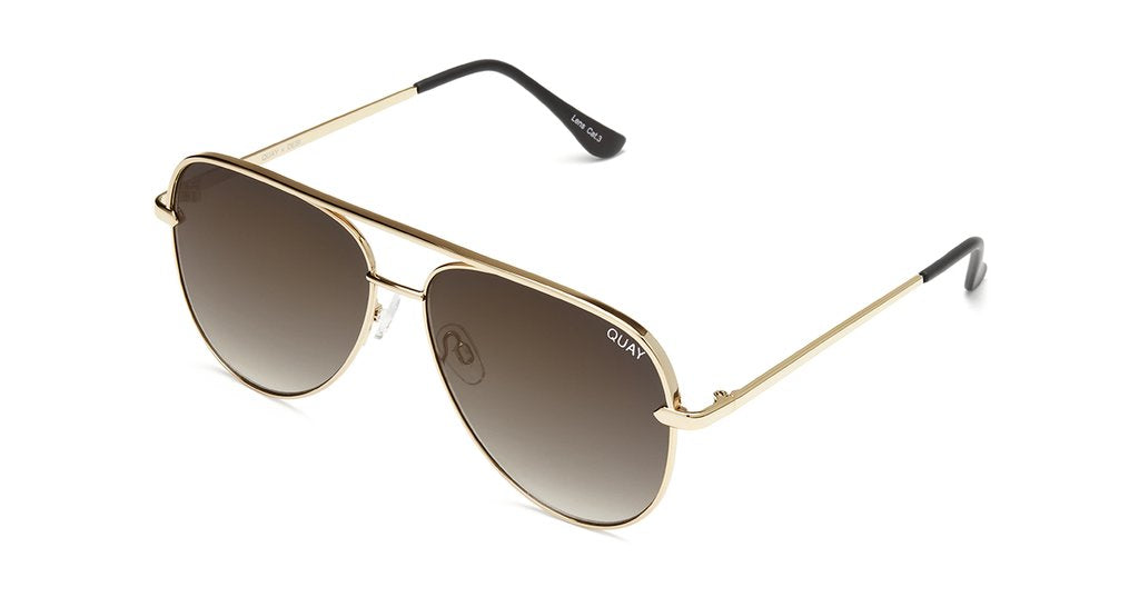 724df1e84e Quay Desi Perkins  QUAYXDESI Sahara Gold Sunglasses   Smoke Taupe Fade  Lenses – New York Glass