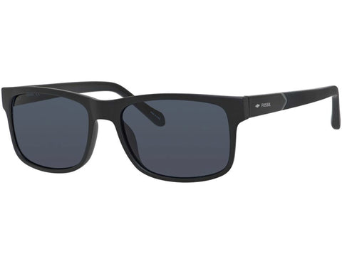 Fossil - 3061  Matte Black  Sunglasses / Grey  Lenses