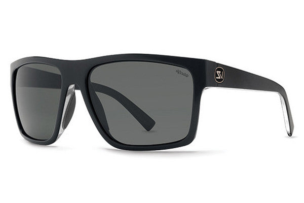 VonZipper - Dipstick Black Crystal PBU Sunglasses, Wildlife+Vintage Grey Lenses