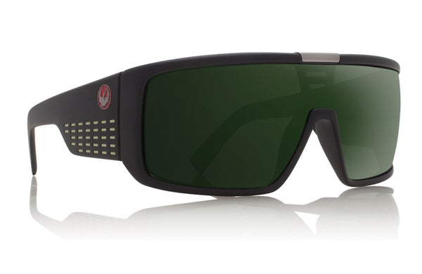 Dragon - Domo Matte Black / Green G15 Sunglasses