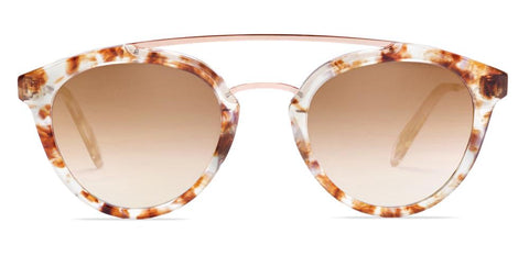 Westward Leaning - Double Bridge 08 Polished Quartz Tortoise Acetate Sunglasses / Brown Gradient Lenses