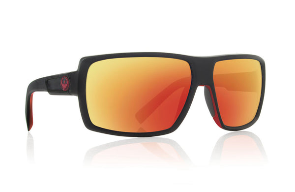 Dragon - Double Dos Jet Red / Red Ion Performance Polar Sunglasses