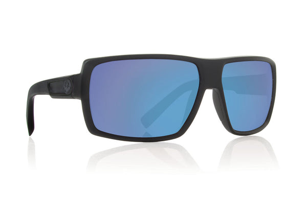 Dragon - Double Dos Matte Black / Blue Ion Performance Polar Sunglasses