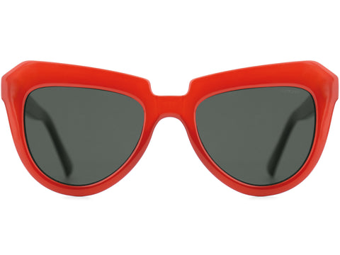 Komono - Stella  Milky Red Sunglasses / Black Lenses