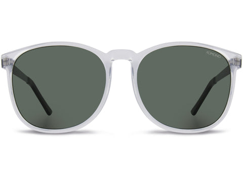 Komono - Urkel  Metal Clear Silver Sunglasses / Smoke Lenses