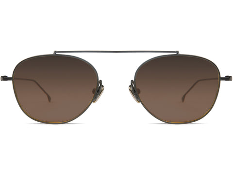 Komono - Sheldon Black  Sunglasses / Gradient Brown Lenses