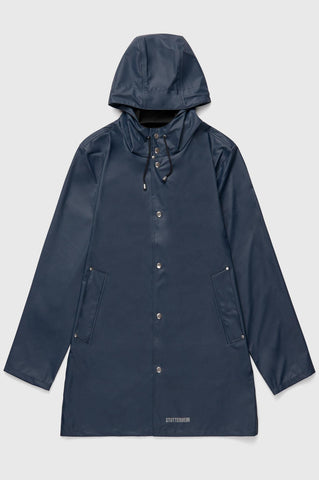 Stutterheim - Stockholm Lightweight Navy Raincoat