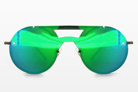 Spitfire - Algorithm Black Sunglasses / Green Mirror Lenses