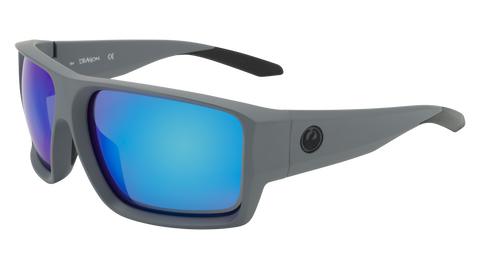 Dragon - Freed H2O 64mm Matte Grey Sunglasses / Blue Ion Polarized Lenses