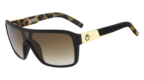 Dragon - Remix 60mm Leopard Safari Sunglasses / Brown Gradient Lenses