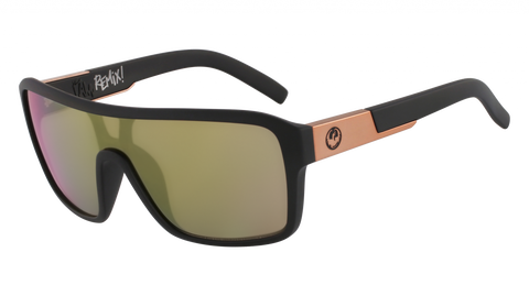 Dragon - Remix 60mm Matte Black Sunglasses / Rose Gold Ion Lenses